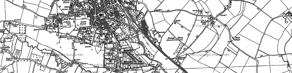 Old map of Stowmarket in 1884