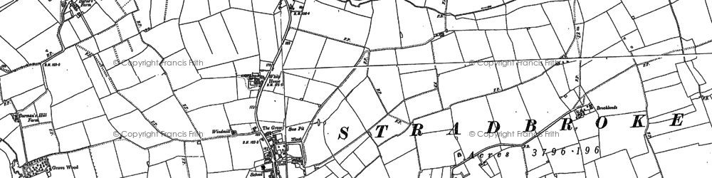 Old map of Wingfield Hall in 1884