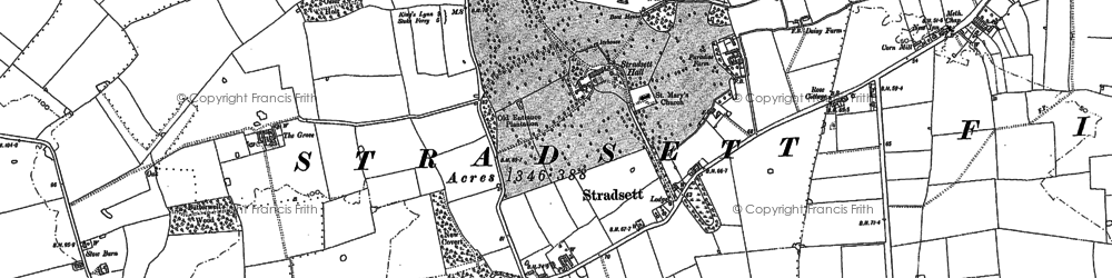 Old map of Toombers Wood in 1884