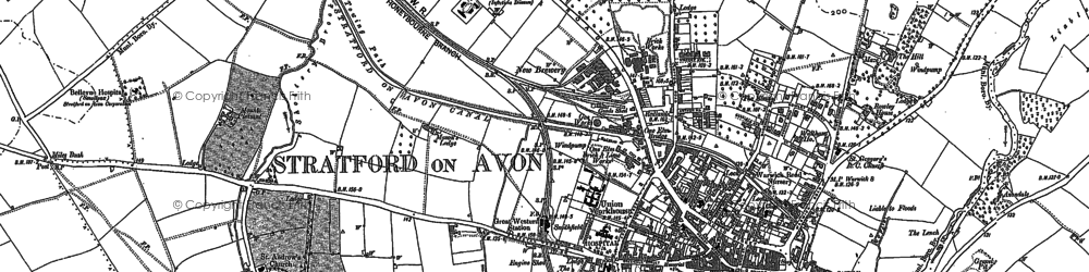 Old Map Of Stratford Upon Avon In 1885