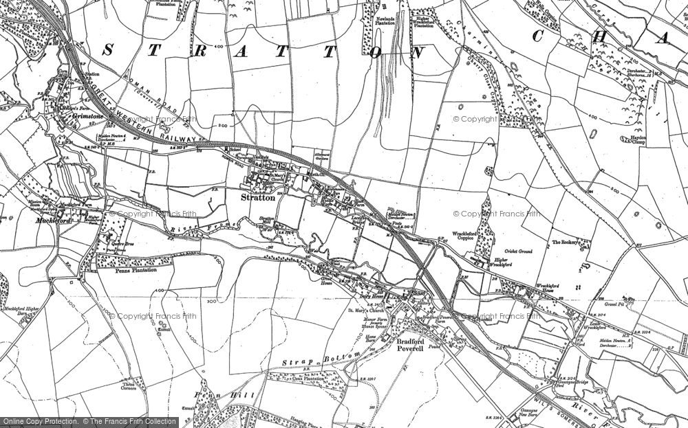 Old Map of Historic Map covering Ash Hill in 1886