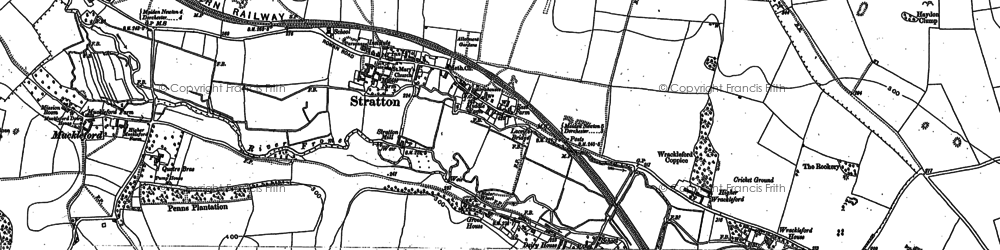 Old map of Ash Hill in 1886