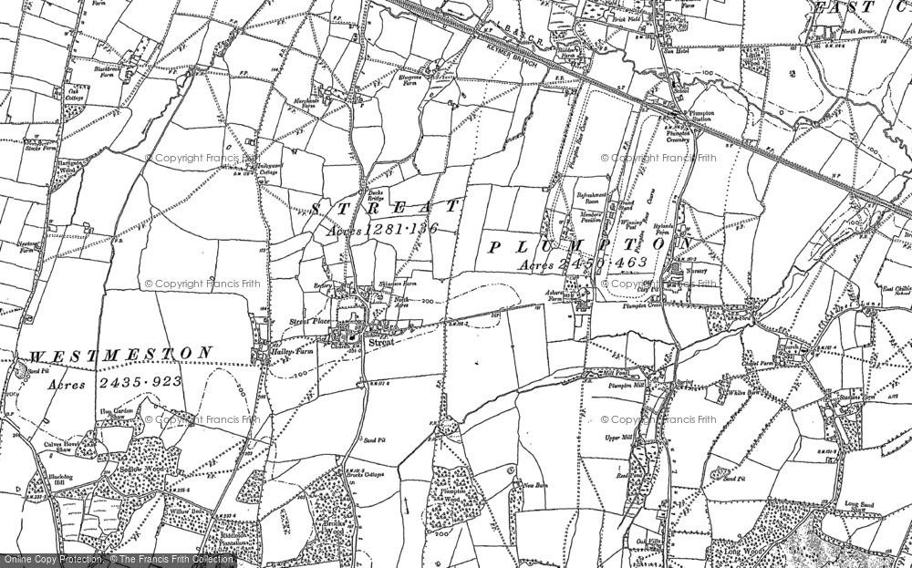 Old Map of Streat, 1896 - 1897 in 1896