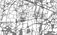 Old Map of Streat, 1896 - 1897