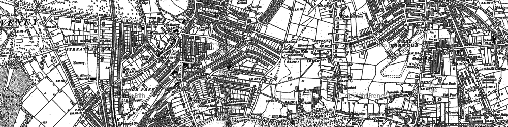 Old map of Streatham in 1894