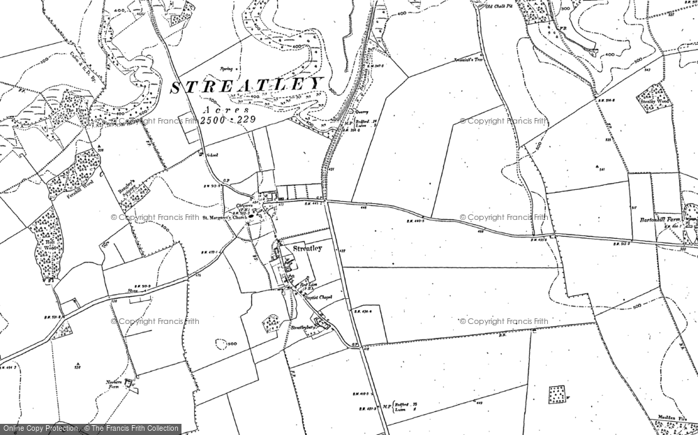 Old Map of Streatley, 1881 - 1899 in 1881