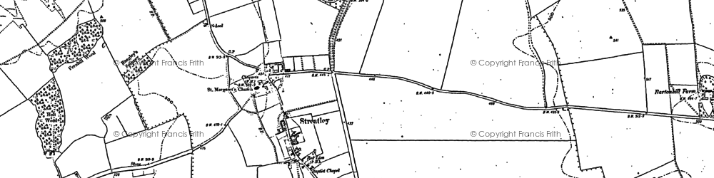 Old map of Streatley in 1881