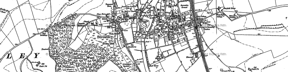 Old map of Streatley in 1910