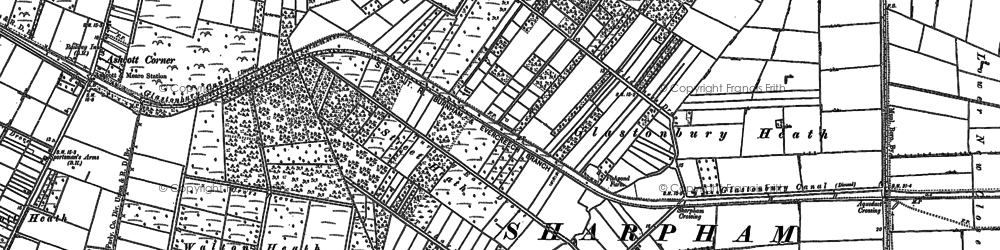 Old map of Beckery in 1884