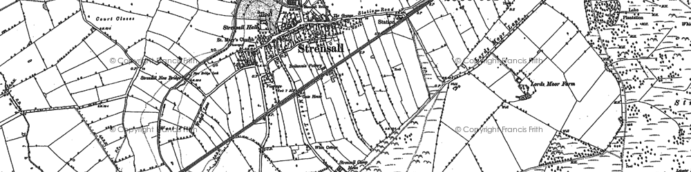 Old map of Wild Goose Carr in 1891