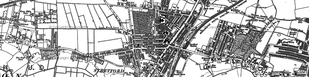 Old map of Stretford in 1894
