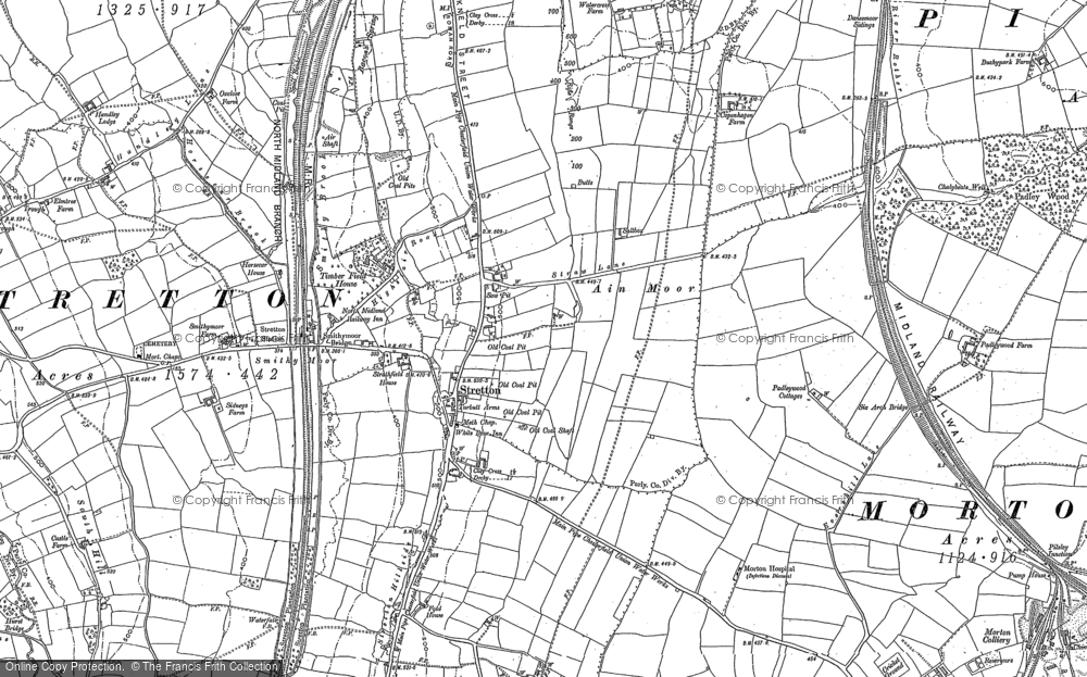 Old Map of Stretton, 1877 - 1879 in 1877