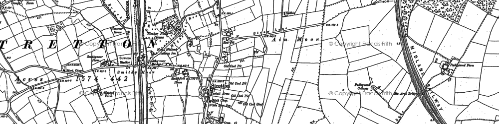 Old map of Stretton in 1877