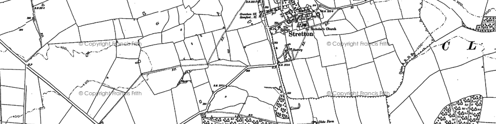Old map of Woolfox Wood in 1903