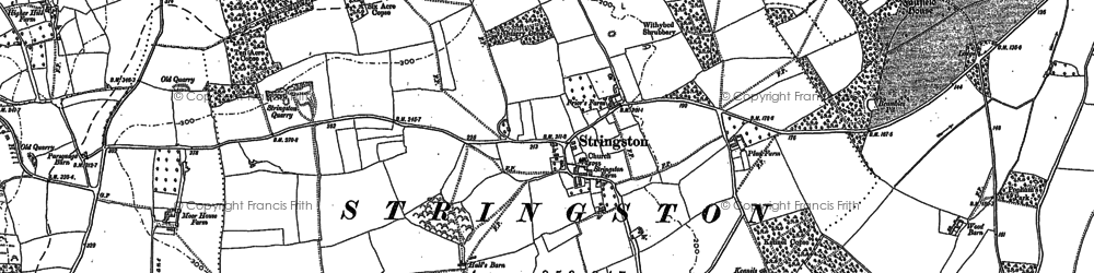 Old map of Dodington in 1886