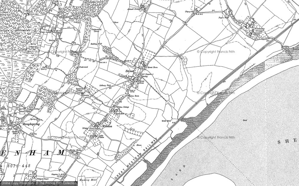 Old Map of Historic Map covering Ashwell Grove in 1900