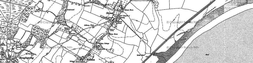 Old map of Woolaston Grange in 1900