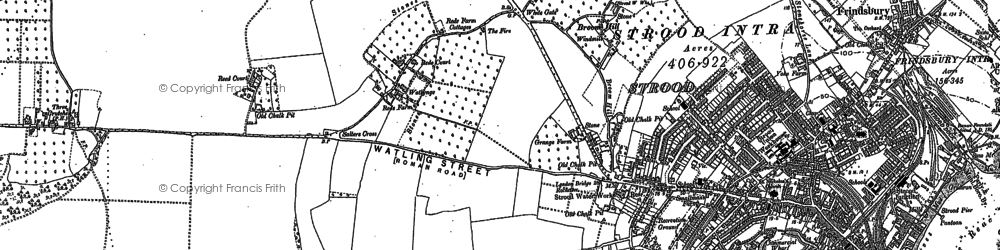 Old map of Strood in 1895