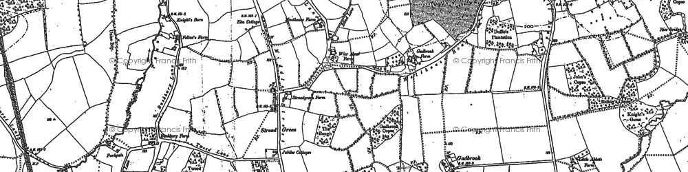 Old map of Strood Green in 1895