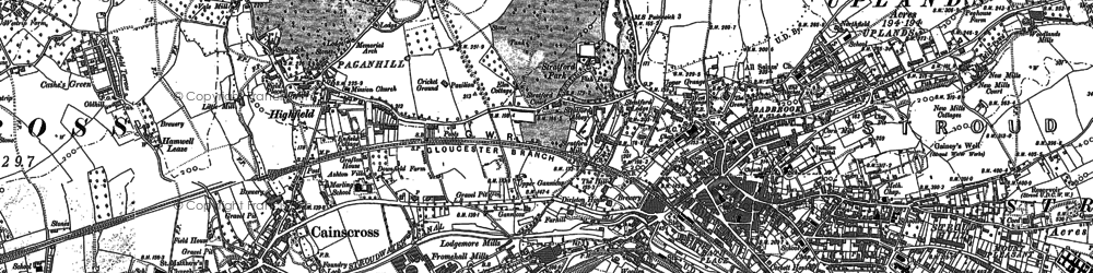 Old map of Stroud in 1882