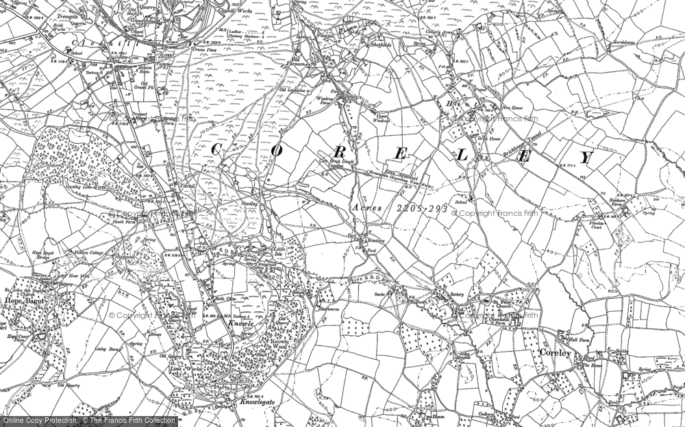 Old Map of Historic Map covering Titrail in 1883