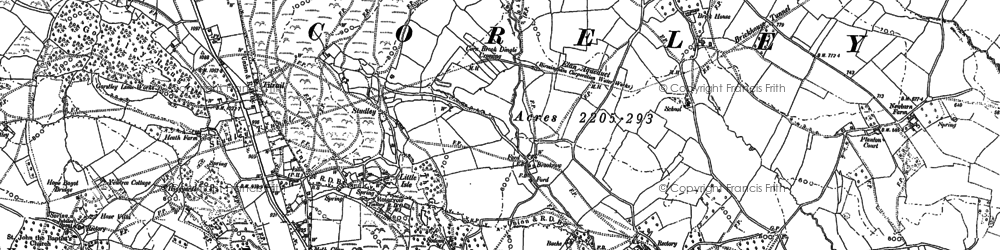 Old map of Titrail in 1883