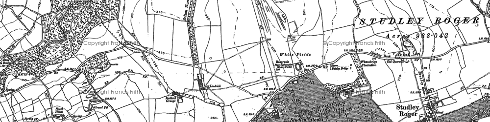 Old map of Studley Royal in 1890