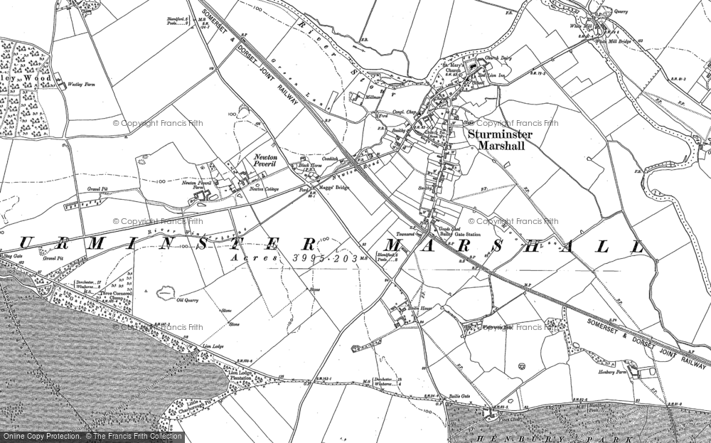 Old Map of Historic Map covering Bailie Ho in 1887