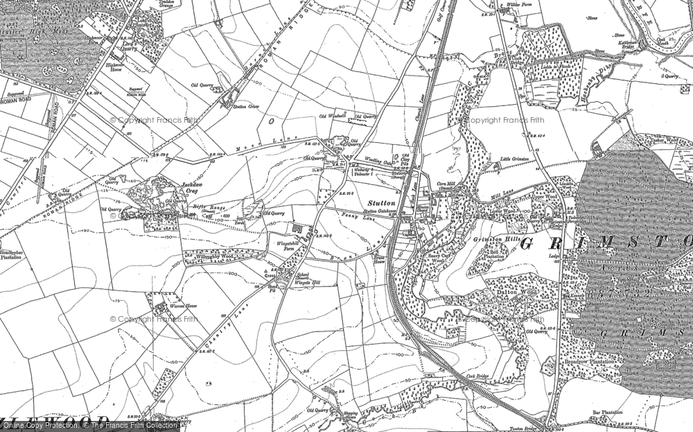 Old Map of Historic Map covering Limekiln Wood in 1890