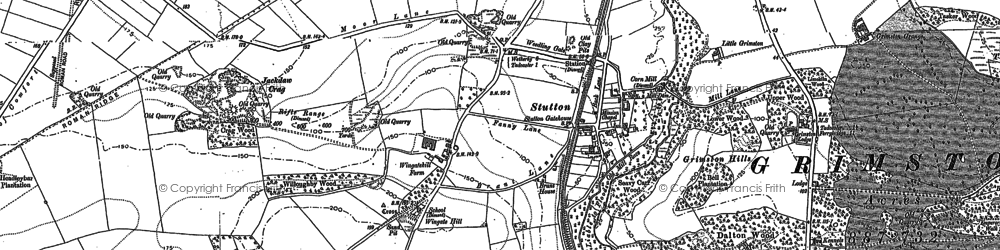 Old map of Wingate Hill in 1890