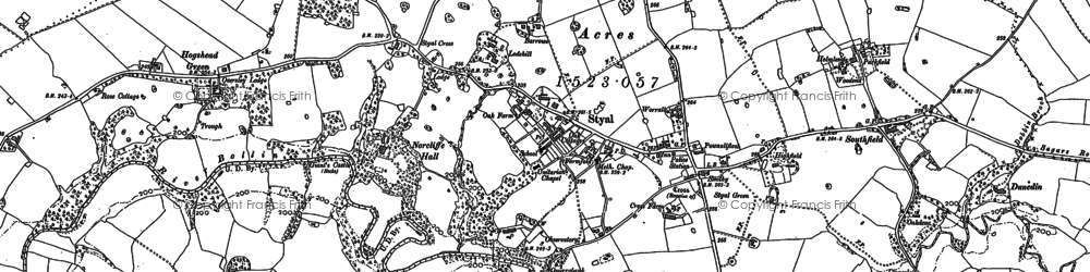 Old map of Lindow Moss in 1897