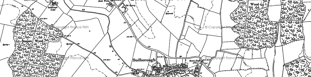 Old map of Titchmarsh Wood in 1884