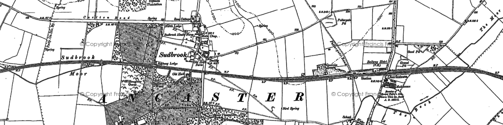 Old map of Sudbrook in 1887