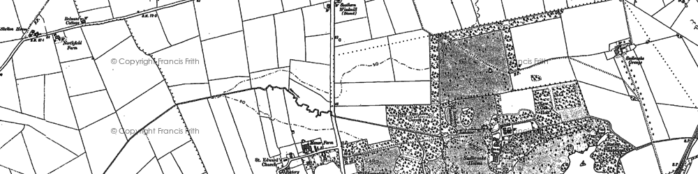Old map of Barfield Ho in 1886