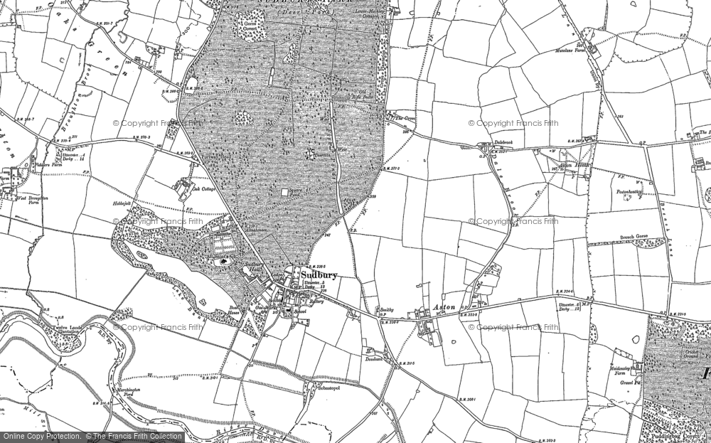 Old Map of Historic Map covering Aston Br in 1899