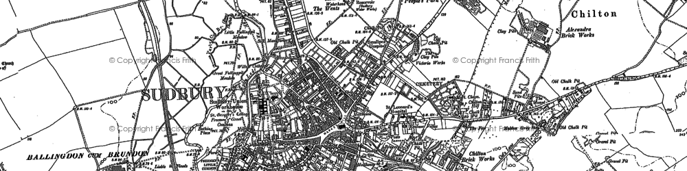 Old map of Ballingdon in 1902