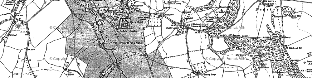 Old map of Sudeley Castle in 1883