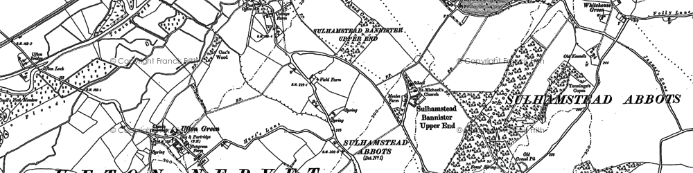 Old map of Sulhamstead in 1898