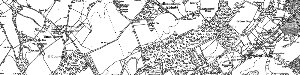 Old map of Whitehouse Green in 1898