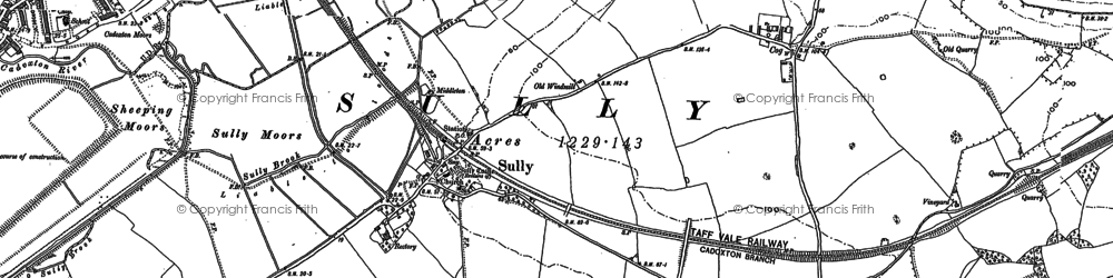 Old map of Sully in 1915
