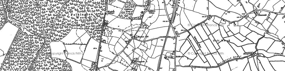 Old map of Woodside Hall in 1898