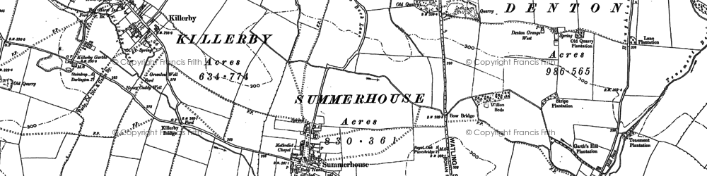 Old map of Fanny Barks (Fox Covert) in 1896