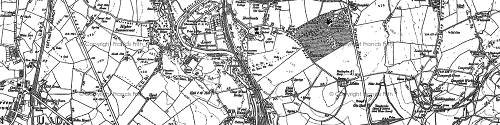 Old map of Woodhey in 1891
