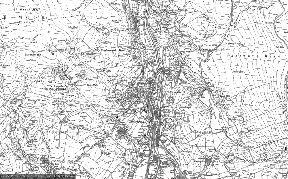Old Map of Historic Map covering Aiggin Stone in 1891