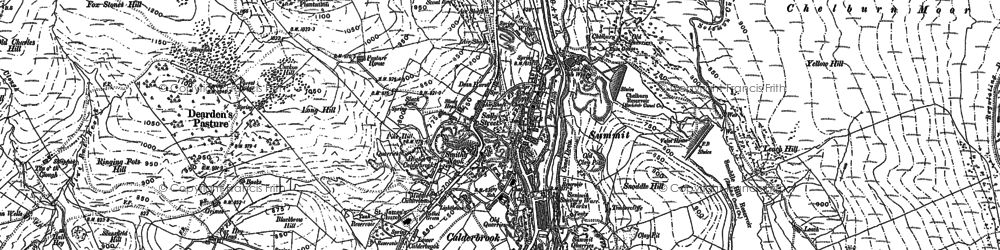 Old map of Aiggin Stone in 1891