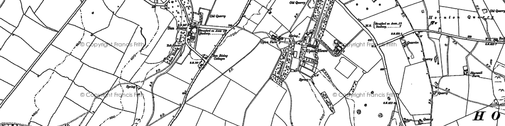 Old map of Westcote Manor in 1885