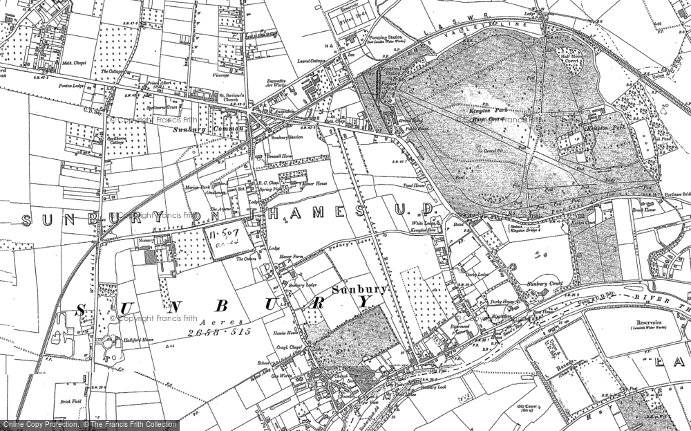 Old Maps of Sunbury Francis Frith