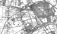 Old Map of Sunbury, 1912 - 1913