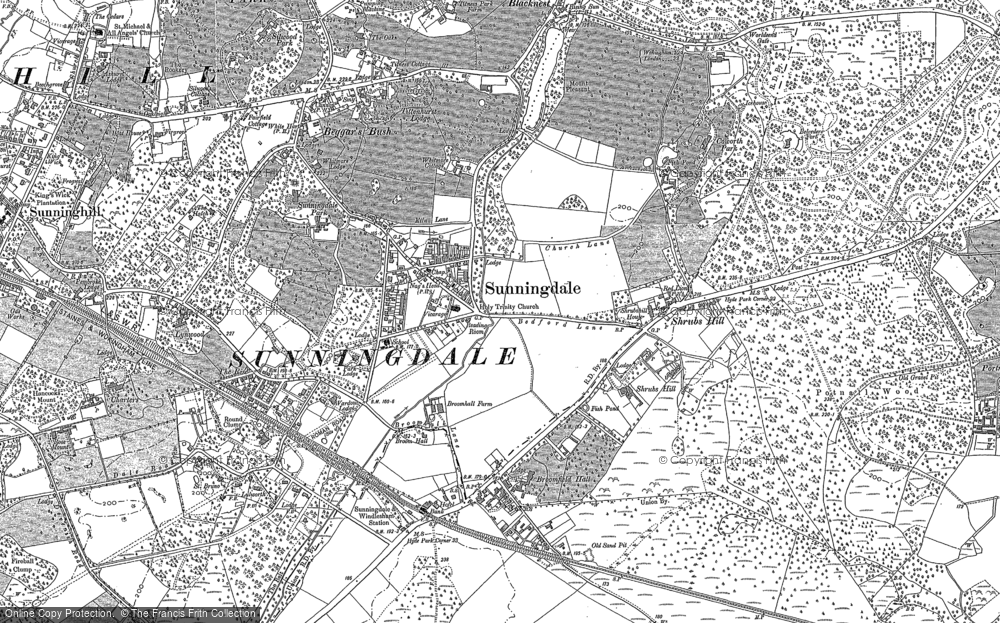 Map of Sunningdale, 1898 - 1910