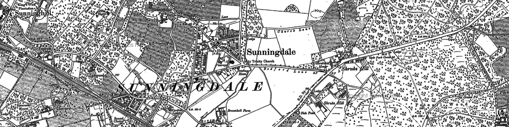 Old map of Sunningdale in 1898